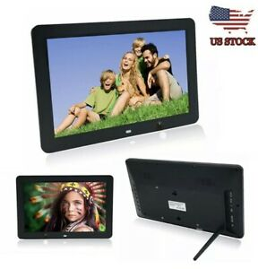 "12"" inch Black HD LED Digital Photo Picture Frame Music/Movie W/Remote Control"