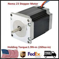 Nema 23 Stepper Motor 19nm269ozin 3a 36v 4 Leads For Cnc 3d Printer Us Ship