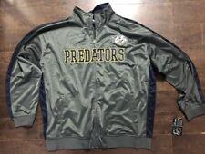 Nashville Predators Hockey NHL Men's Reflective Track Jacket Charcoal Blue 3XL