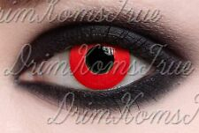 Lentille de Couleur Rouge / Red Out / Lens Crazy,Halloween / Valable 6 Mois