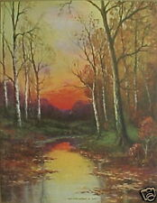 Trees, Stream. Sunset, Beautiful Print by Thompson!!!