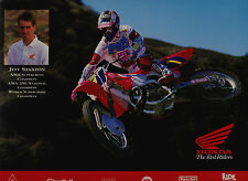 1993 JEFF STANTON TEAM HONDA MOTOCROSS PROMO PRINT CR125R CR250R CR500R