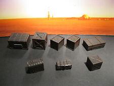 Star Wars Custom Cast Award Winning Wooden Crate Set of 8 Diorama Parts 3.75