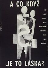 BUT WHAT IF THIS IS LOVE? Amazing MEGA RARE Original Czech Poster YULI RAIZMAN