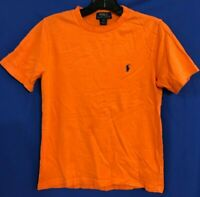 POLO RALPH LAUREN Boys 100% COTTON Jersey Knit S/S T-Shirt ORANGE Sz M 10-12