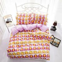 Pink Elephant Single Double Queen King Size Bed Set Pillowcase Quilt Duvet Cover