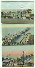 tp9798 - Sussex - Three Cards, Views of the Palace Pier in Brighton - postcard