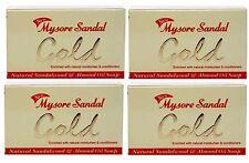Mysore Sandal Gold Soap, 125 Grams Per Unit (Pack of 4) - Purest Sandalwood Soap