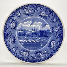 """Pellatt Mintons Plate Lafayette Landing At Castle Garden Ny Wright Tyndale 9.5"""""""