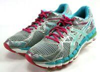 Asics GEL-Surveyor 3 $110 Women's Running Shoes Size 8 Gray Blue Pink