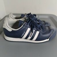 Adidas Samoa Youth Boys Size 6.5 Running Shoes Navy/White Classic Low Sneaker