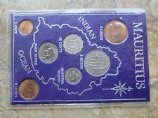 Mauritius Set Lot 7 Coins,1 2 5 10 Cents,1/4 1/2  1 Rupee , UNC