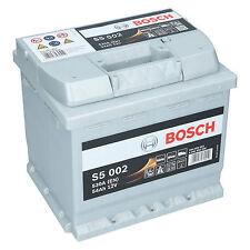 Bosch S5 002 12V 54Ah 530 A EN Autobatterie Starterbatterie ersetzt 50Ah 60Ah