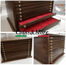 Monetiere Medagliere in legno 10 Cassetti Coins&More coin cabinet medailler