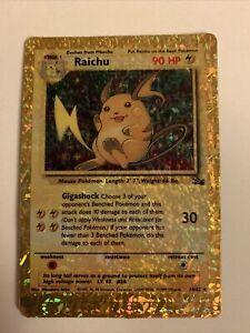 Pokemon Prism Sticker Card Fossil Raichu