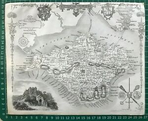 1841 Antique Map; Isle of Wight by Thomas Moule