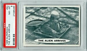 1966 Topps Superman #50 The Alien Arrives PSA 8