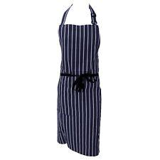 Navy / Bianco a Righe in nylon spalmato macellai / cucina / cuoco / chef grembiule IMPERMEABILE