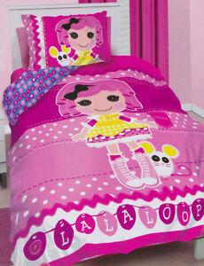 Lalaloopsy Quilt Doona Duvet Cover Set Bedding Girls Kids Rag Dolls Toys Owl New