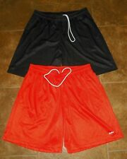 2 Mens EASTBAY Athletic Basketball Mesh SHORTS Size 2XL XXL Black Orange