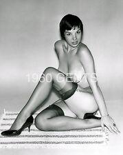 1960s 8X10 NUDE PHOTO BUSTY BIG NIPPLES ALISON SANBORNE FROM ORIGINAL NEG-20