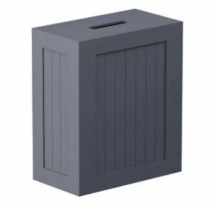 Shaker Slimline Bathroom Storage Unit Grey Wooden Multi-Purpose Toilet Paper