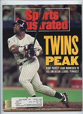 Sports Illustrated Minnesota Twins Win Pennant Kirby Puckett 1991 De La Hoya