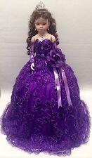 NEW Purple 28 inch Mis 15 XV Anos Quinceanera Porcelain Umbrella Muñeca Doll