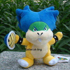 """Super Mario Bros Ludwig Koopa With Shell 8"""" Plush Toy Bowser Son Koopalings Doll"""