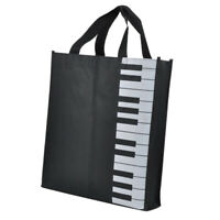 Musikalische Instrument Klaviertasten Muster Waschbare Handtasche Musik Taschen
