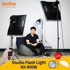 Godox 400Ws Studio Flash Kit 2x 200W Strobes with Light Stands,Triggers,SoftBox
