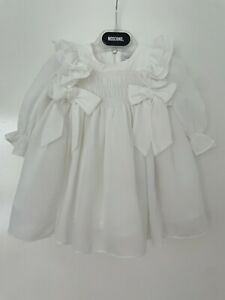 AUTHENTIC PATACHOU WHITE CHIFFON BABY DRESS AGE 6-9 MONTHS!