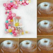 5M White Balloon Decorate Strip Arch Garland Chain DIY Tape Party Bar Decoration