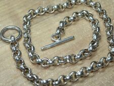 Heavy 69.5 g Vintage STERLING SILVER Rolo Link Chain Necklace 19""