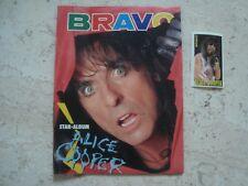 ALICE COOPER rare MINIATURE vintage 80s special cover magazine + RARE Sticker