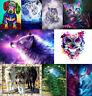 UK 10 Types Animals 5D Diamond Painting Owl Wolf Embroidery Cross Stitch DIY Csy