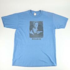New listing Vintage 90s Star Trek Believe Blue T-Shirt Size L Made in Usa Rare
