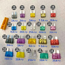 220Pcs Car Blade Fuse Assortment Assorted Kit Blade 2/3/5/7.5/10/15/20/25/30/35A