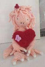 Agatha the heart monster  amigurumi handmade soft  crochet doll
