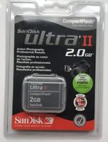 SanDisk 2GB Ultra II CompactFlash CF Compact Flash Camera Memory Card