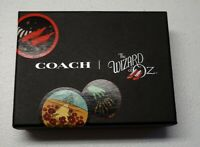 NEW $45 COACH Wizard of Oz Bag Tag Glitter Leather Keychain Wicked Witch NWT
