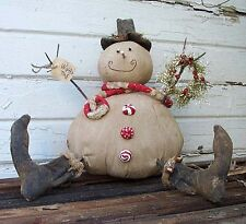 PRimiTiVe WiNteRtiMe Christmas Snowman Doll ~ Pattern