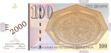 "Macedonia 100 Denari 2000 Unc pn 20 , 2000 ""Millennium"" Commemorative Issue"
