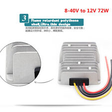 Car Power Supply Regulator Automatic Voltage Stabilizer Convert 8-40V to 12V 72W