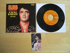 Elvis 45rpm record & Picture Sleeve, Help Me/If You Talk In Your Sleep, calendar
