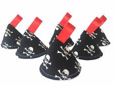 Black Skulls Pee Pee Teepee x3 // Wee Stop Cones Teepees / Boy Baby Shower Nappy
