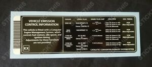 Holden, HSV - Vehicle Emission Control Information Decal KX - VX, V2, WH V6/V8