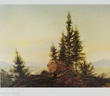 Caspar David Friedrich Panorama ins Elba poster immagine stampa d'arte 58x66,5cm
