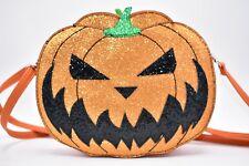 Sleepyville Critters Jack O Lantern Halloween Pumpkin Crossbody Purse Reversible