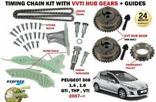 FOR PEUGEOT 308 1.4 1.6 VTI + GTI  CC SW 2007--> TIMING CHAIN KIT + VVT HUB GEAR